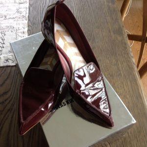 Nicholas Kirkwood beya burgundy patent flat
